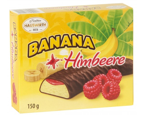 Банановое суфле Хаусверт с малиновым джемом в темном шоколаде 150гр