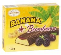 Банановое суфле Хаусверт с ежевичным джемом в темном шоколаде 150гр
