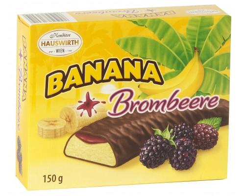 Хаусверт, Банановое суфле с ежевичным джемом в темном шоколаде 150гр