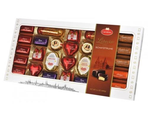 Шоколадные конфеты Carstens Любекский марципан ассорти 400 гр