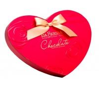 Шоколадные конфеты La Suissa Сердца с бантом  350 гр