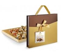 Конфеты ассорти Laica Шоколадный кейс пралине из молочного шоколада с кремовыми начинками: ореховой, капучино, тирамису 185гр