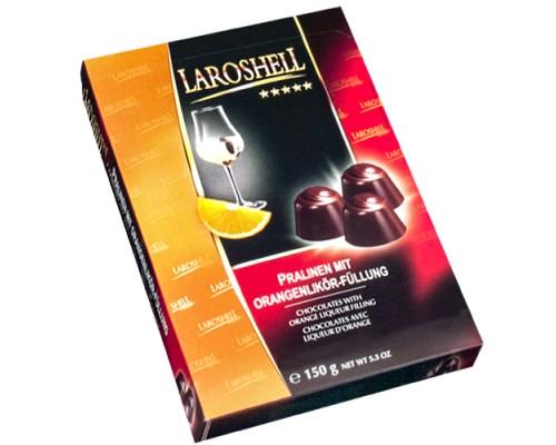 Шоколадные конфеты Laroshell апельсиновый ликёр, 150г