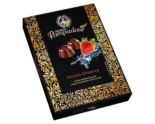Шоколадные конфеты Madame Pompadour Водка со вкусом земляники 150г