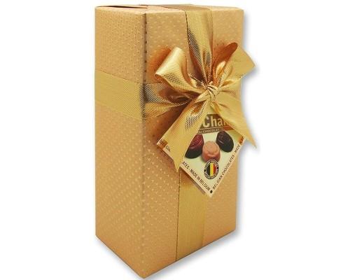 Шоколадные конфеты Пралине MarChand сундучок золотой  200гр