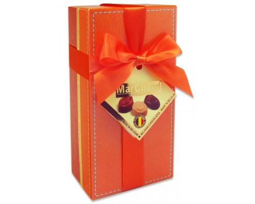 Шоколадные конфеты Пралине MarChand сундучок красный  200гр