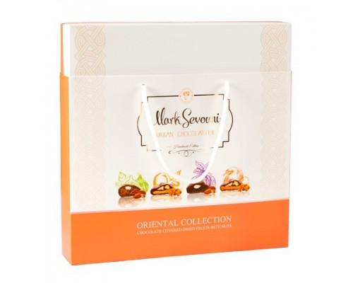 Ассорти сухофруктов с орехами в шоколаде Mark Sevouni Ориенталь в подарочной сумочке 300гр