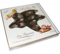 Шоколадные конфеты Мельбон Морские ракушки молочный и белый шоколад  250гр