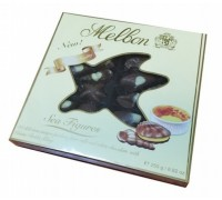 Шоколадные конфеты Мельбон Морские ракушки крем-брюле  250гр