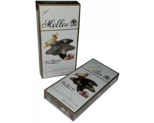Шоколадные конфеты Мельбон Морские ракушки молочный и белый шоколад  125 гр