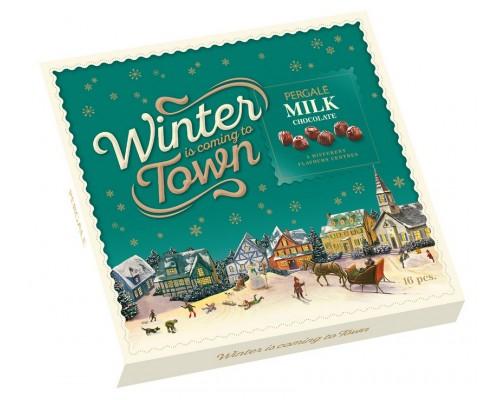 Шоколадные конфеты Пергале Зимняя коллекция Молочного шоколада  125 гр