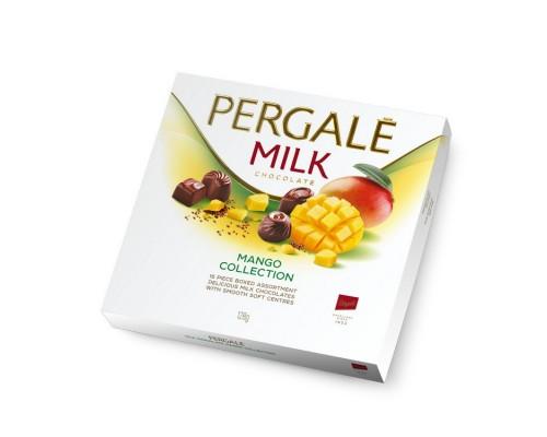 Шоколадные конфеты Пергале Манго Коллекция молочного шоколада 125гр.