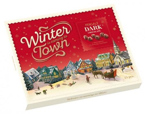 Шоколадные конфеты  Пергале Зимняя  Коллекция Темного шоколада  187 гр