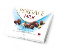 Шоколадные конфеты Пергале Коллекция Молочного шоколада  187 гр