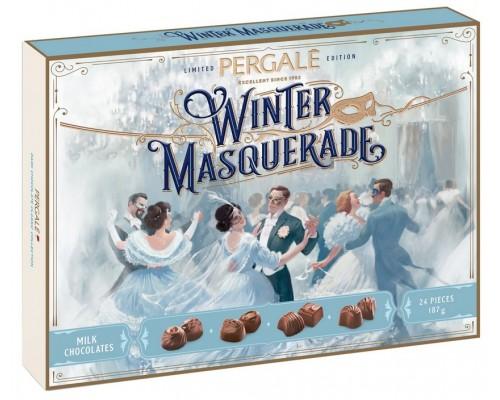 Ассорти шоколадных конфет Пергале Зимний маскарад из Молочного шоколада 187 гр