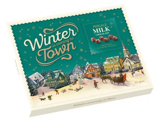 Шоколадные конфеты Пергале Зимняя Коллекция Молочного шоколада  187 гр