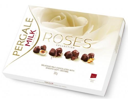 Пергале Белые розы  Шоколадные конфеты ассорти 382 гр