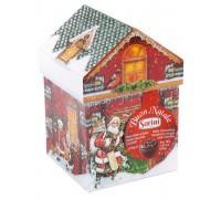Шоколадные конфеты Sorini Новогодний домик с начинкой из орехового крема и злаков 150 гр