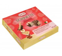 """Шоколадные конфеты Sorini """"Дабл Бокс"""" пралине из молочного  и белого шоколада с нач. из орех. крема и злаков 180гр"""
