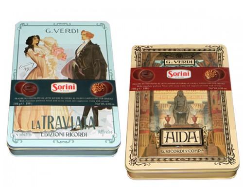 Сорини Опера Верди шоколадные конфеты 198 гр