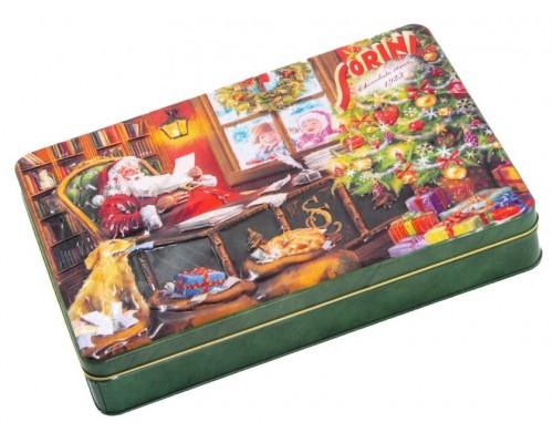 Шоколадные конфеты Sorini Новый год с начинкой из орехового крема и злаков 185 гр