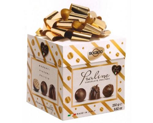 Шоколадные конфеты SOCADO  Лакшери куб 250гр