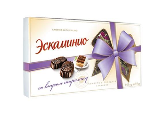 Спартак Шок.конфеты Эскаминио 141г вкус тирамису