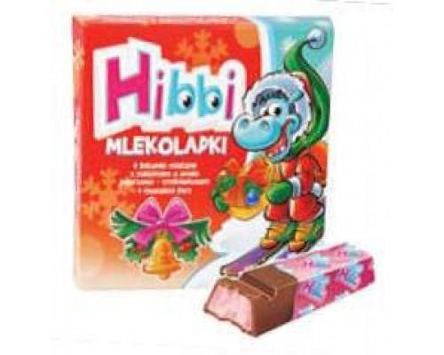 Шоколад Hibbi Млеколадки йогурт-клубника  50 гр