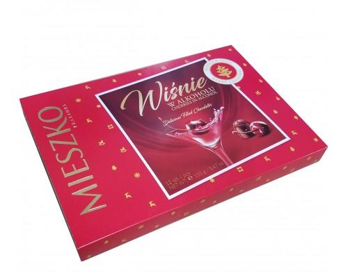 Миешко Вишня в ликере  шоколадные  конфеты картон 155 гр