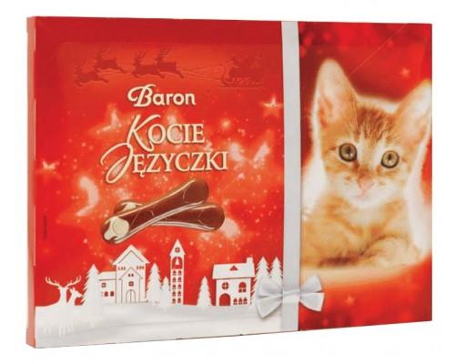 """Шоколадные конфеты Baron """"Кошачьи язычки"""" 100гр"""