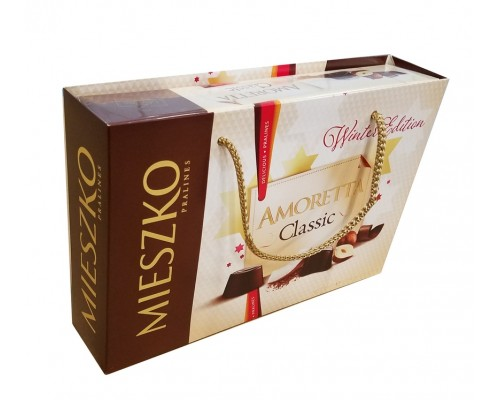 Миешко Аморетта  шоколадные  конфеты с сумочкой 324 гр