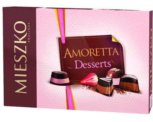 Шоколадные  конфеты Mieszko Аморетта  Дессерт  276 гр