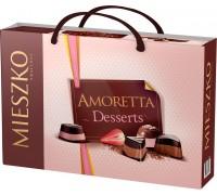 Шоколадные  конфеты Mieszko Аморетта  Дессерт с сумочкой 276 гр