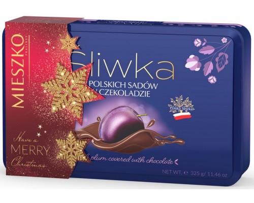 Шоколадные конфеты Mieszko Слива в шоколаде жесть 325 г.