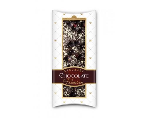 Шоколад с сублимированными  ягодами и фруктами Adikam черная смородина и яблоко 110г