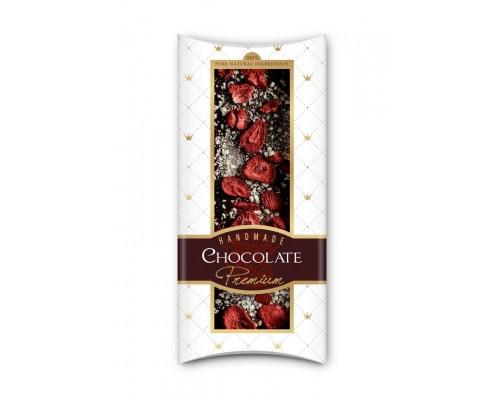 Шоколад с сублимированными  ягодами и фруктами Adikam клубника и яблоко 110г