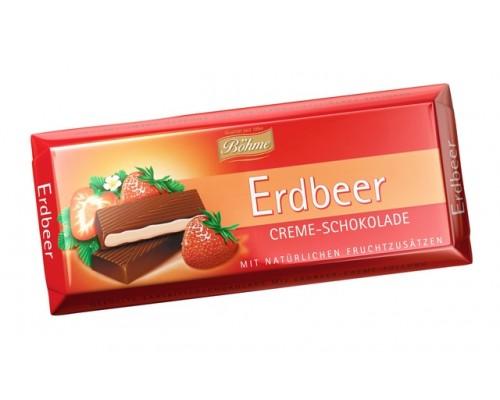Шоколад  темный Bohme с клубникой  62% 100гр