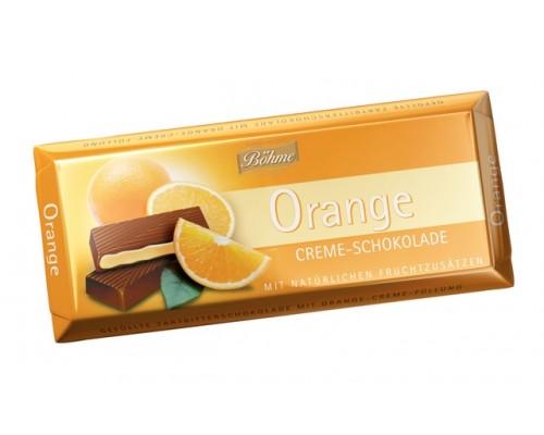 Шоколад темный BOHME  с апельсином 62% 100гр