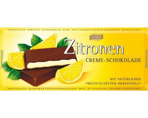 Шоколад  темный Bohme с лимоном  62% 100гр