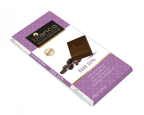 Bianca шоколад  темный  55% (dark 55%) 100г