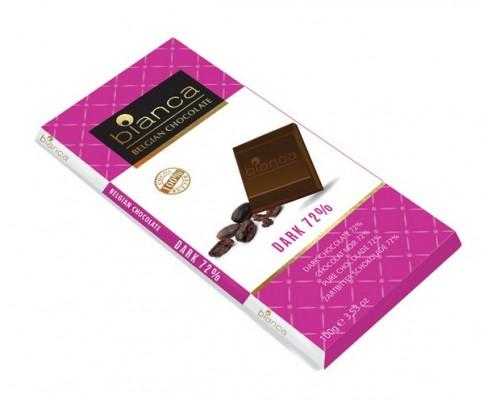 Bianca шоколад  темный  72% (dark 72%) 100г