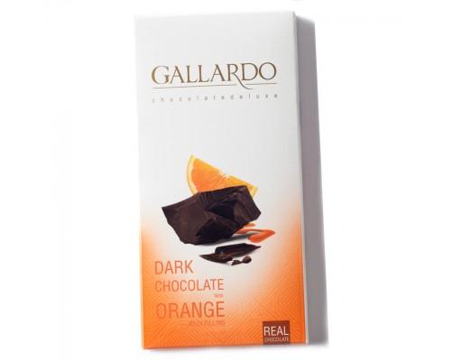 Шоколад Gallardo с апельсином 100гр