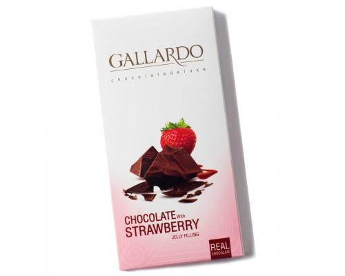 Шоколад Gallardo с клубникой 100гр