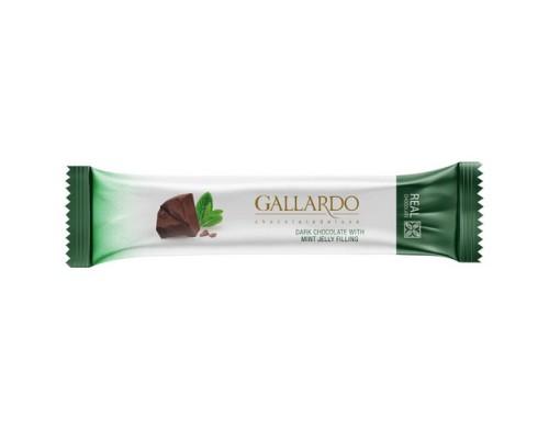 Шоколад Gallardo с мятной начинкой 25гр[1/24шт]