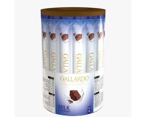 Шоколадные палочки Gallardo из молочного шоколада 10гр[1/30шт]
