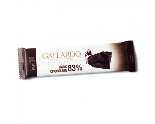 Шоколад горький Gallardo 83% 23гр[1/24шт]