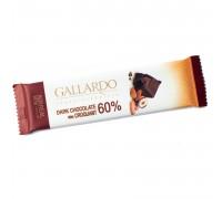 Шоколад горький Gallardo с грильяжем 60% 23гр