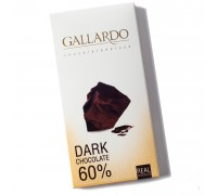 Шоколад  Gallardo горький 60% 100гр