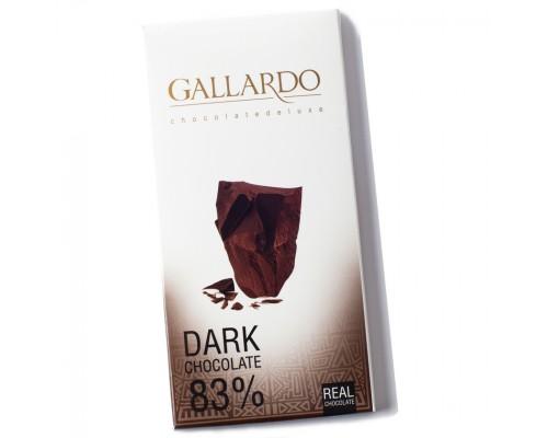 Шоколад  Gallardo горький 83% 100гр