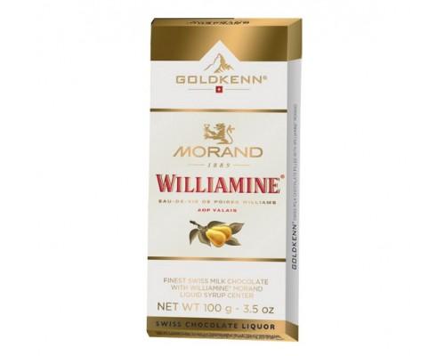 Шоколад молочный  Goldkenn Morand Williamine с ликером 100гр